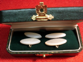 Lozenge Shaped Antique Mother of Pearl Cufflinks (SOLD)
